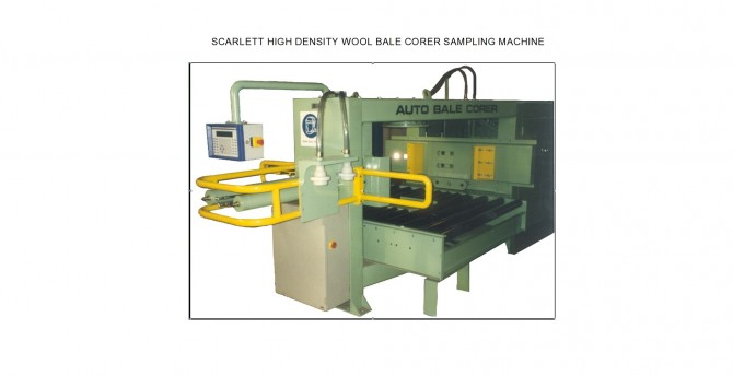High density wool bale corer